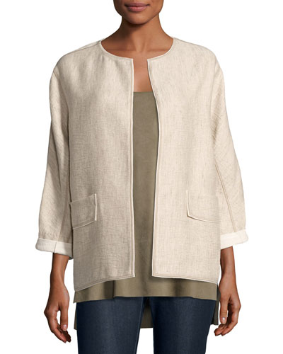 Beatriz Rustica Cotton/Linen Jacket, Multi