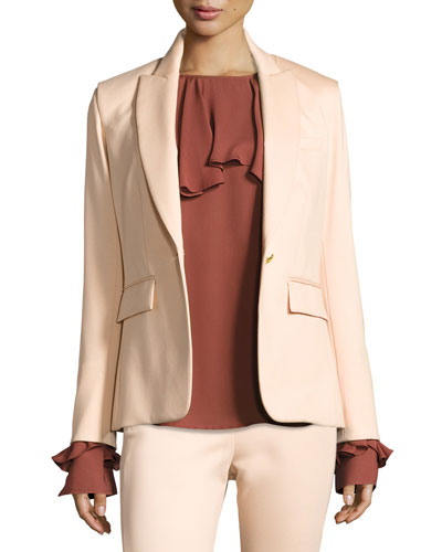 Rebel Major Cutaway Jacket, Blush