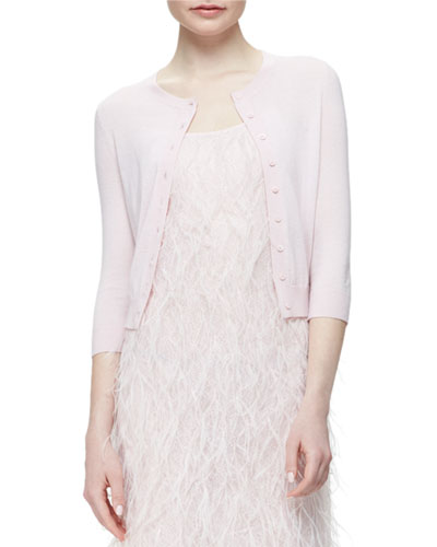 Featherweight Cashmere Cardigan, Pink