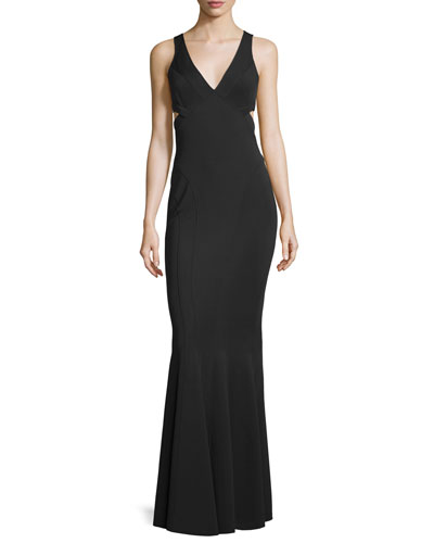 Jax Sleeveless V-Neck Mermaid Gown