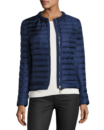 Camomille Quilted Silk Jacket, Blue