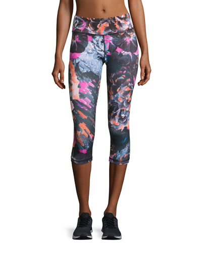 Tempest Rose Core Capri Leggings, Multicolor