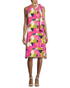 Wailua Floral Dress w/ Bow Detail, Multi