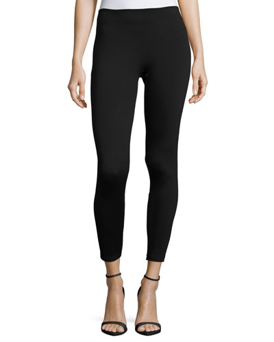 Ribbed Jersey Leggings, Black