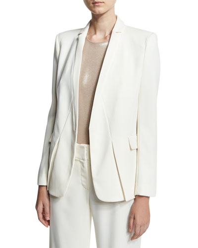 Tuxedo Jacket w/ Notch Detail, White
