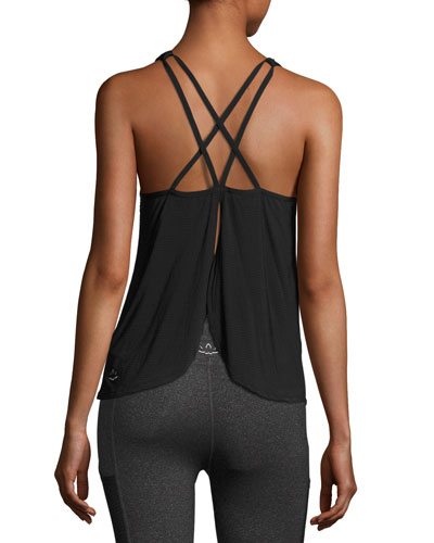 Sleek Stripe Waterfall Swing Tank, Black