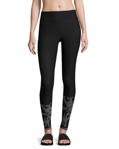 Gradient High-Rise Performance Leggings, Black