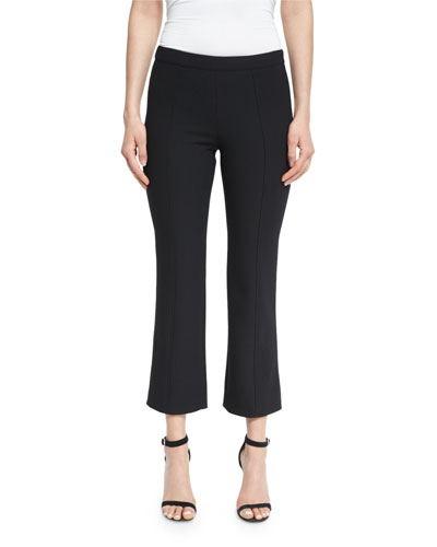 Onyx Flare-Leg Cropped Pants, Black
