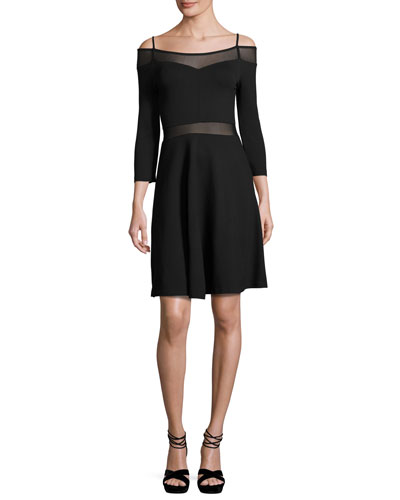 Tatlin Beau Cold-Shoulder Illusion Dress