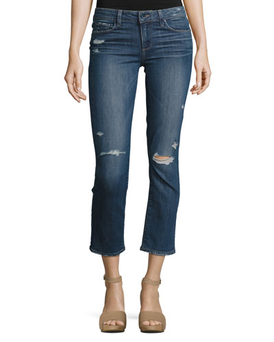 Miki Cropped Straight-Leg Jeans, Colton Destructed