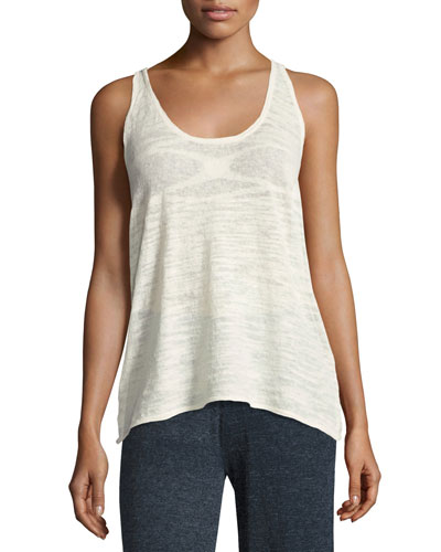 La Playa Racerback Tank, White, Plus Size