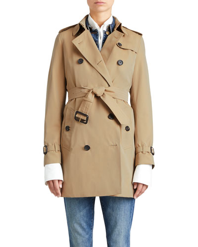 The Kensington Mid-Length Heritage Trench Coat, Honey