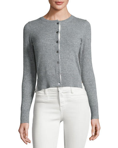 Tommena Cashmere Cardigan, Gray