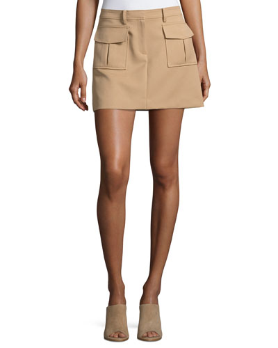 Lupah Prospective Safari Mini Skirt, Brown
