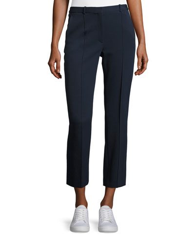Hartsdale K Oxford Cropped Knit Pants, Blue