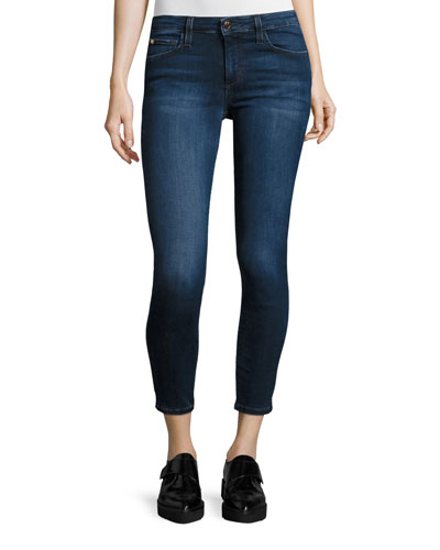 The Icon Mid-Rise Cropped Skinny Jeans, Kidd