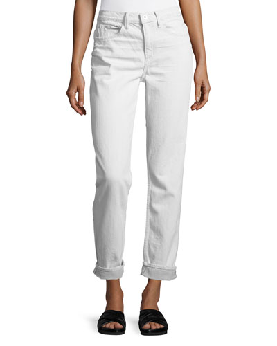 Mid-Rise Relaxed Jeans, White