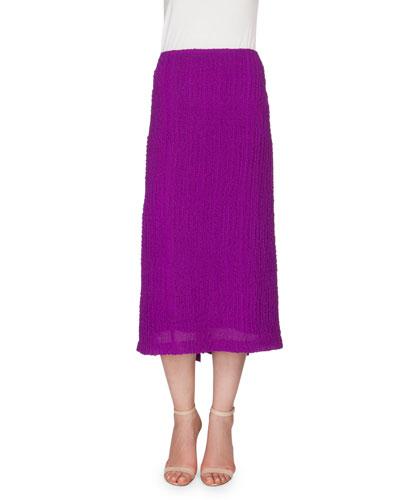 Textured Seersucker Pencil Skirt