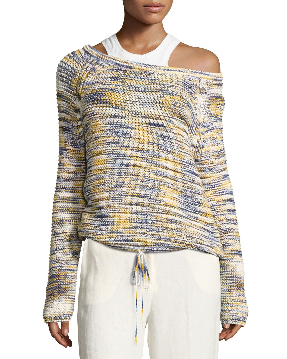Coella Soft Chain Sweater, Multicolor