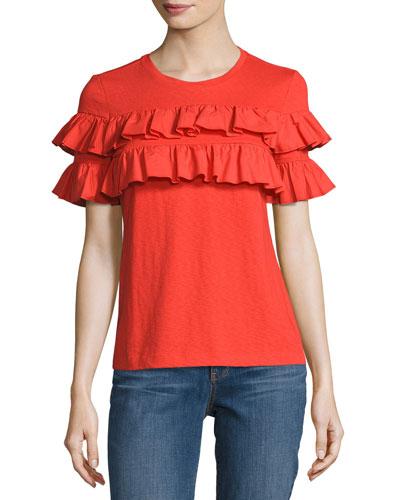 Lenox Short-Sleeve Ruffled T-Shirt