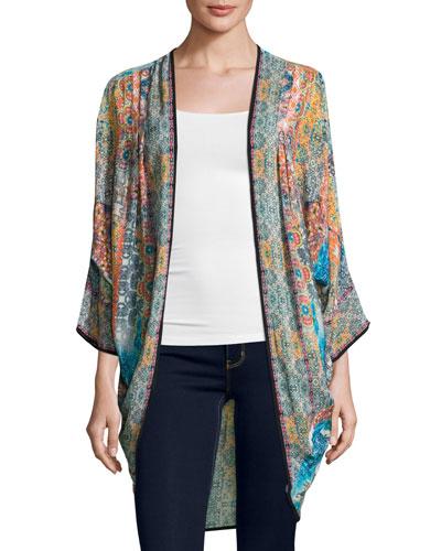 Shara Easy Printed Wrap Jacket