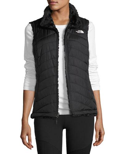 Mossbud Swirl Fleece & Taffeta Reversible Vest