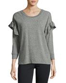 The Ruffle Sweatshirt, Gray