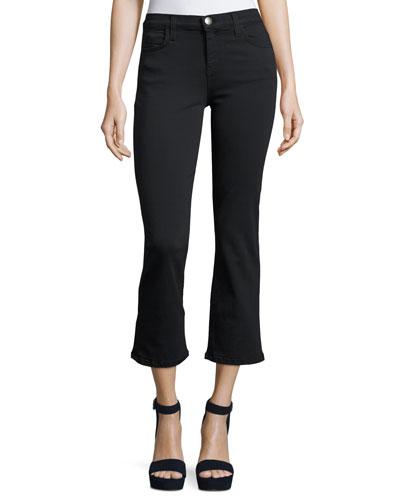The Kick Mid-Rise Stretch-Denim Jeans, Tar