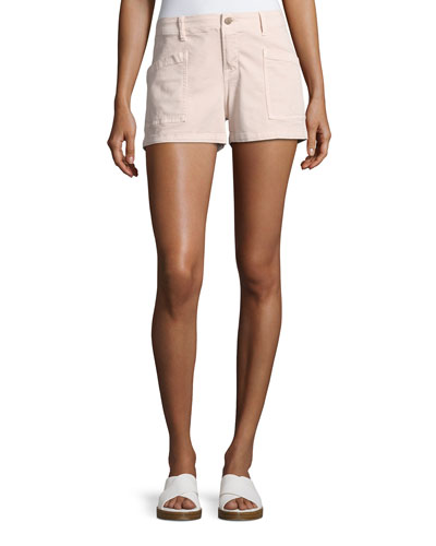Bona Mid-Rise Cargo Shorts, Peach Whip