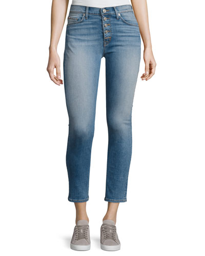 Ciara High-Rise Super Skinny Ankle Jeans, Reality