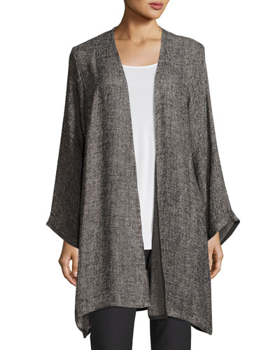 Gauzy Linen-Blend Topper Jacket
