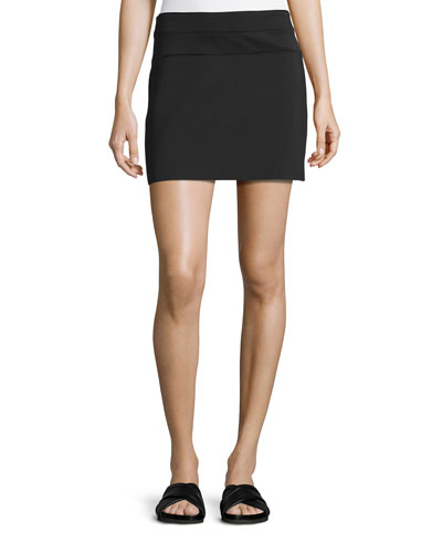 Scuba Mini Skirt, Black