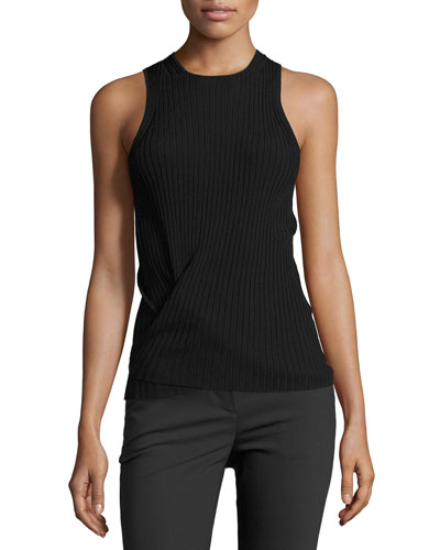 Technical Tie-Hem Tank, Black