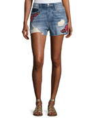 Le Original Patch Shorts, Rose Petal