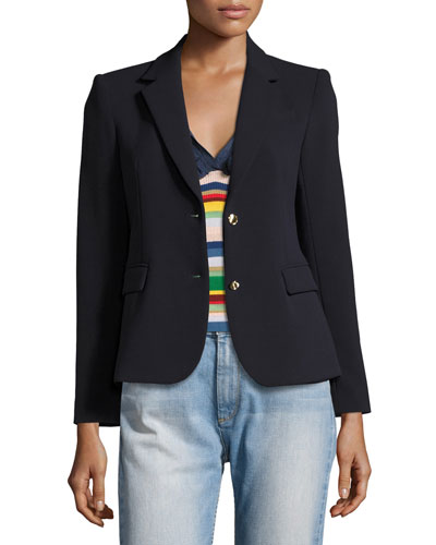 Greyson Two-Button Blazer, Navy
