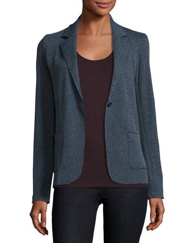 Cotton/Cashmere Knit Blazer