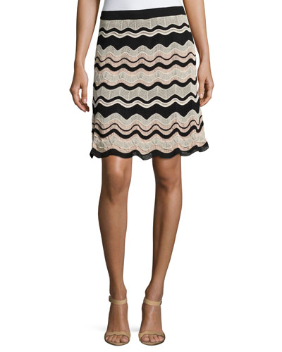 Rippled Ribbon Knit Skirt