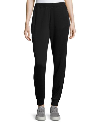 Carmen Knit Jogger Pants, Black