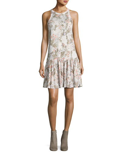 Penelope Floral-Print Jersey Tank Dress, Multicolor