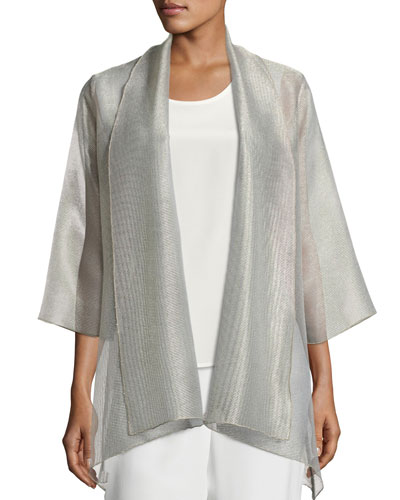 Elegant Sheer Mesh Jacket