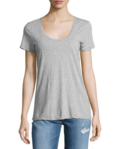 The Killian Jersey Tee, Heather Gray