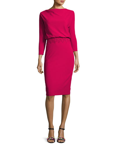 Pink Fitted Dress - Neiman Marcus
