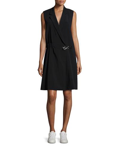 Fiona Oversized Vest Dress, Black