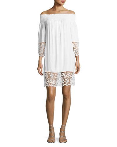 6337f07687e Contemporary Lace Trim Dress