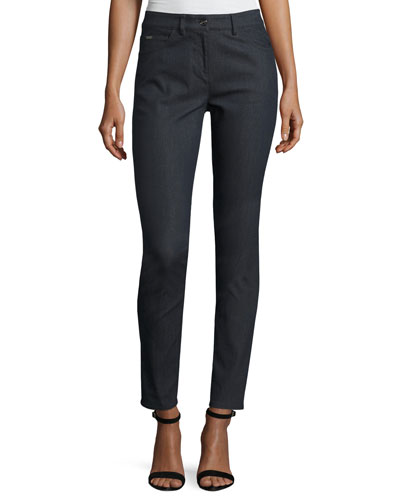 Bardot Slim-Fit Capri Jeans, Dark Blue