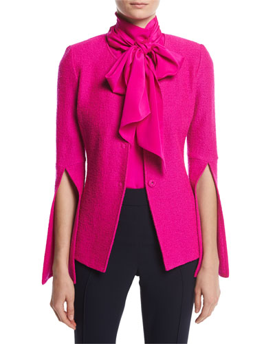 Clair Bracelet Split Sleeve Jacket, Pink