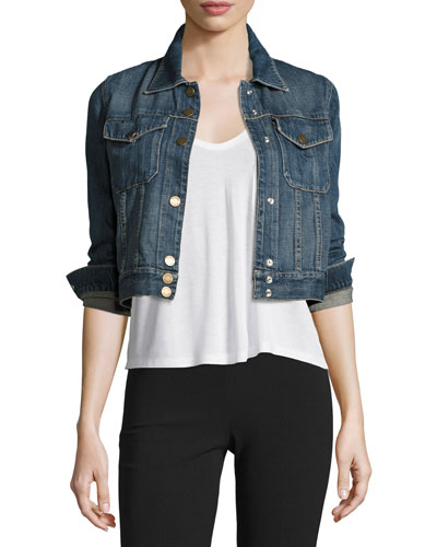 Cropped Denim Jacket | Neiman Marcus