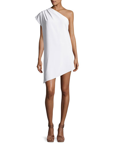 Melina One-Shoulder Asymmetric Shift Dress