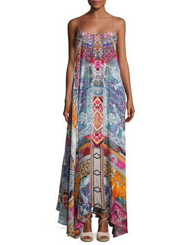 Embellished Crepe Full Maxi Dress, Sunday Best