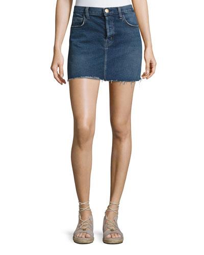 The Mini Cutoff Denim Skirt, Reese